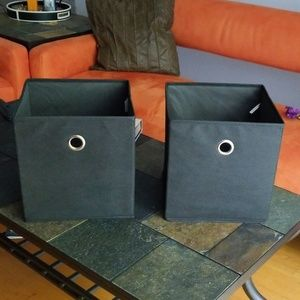 Set of 2 storage cubes organizers